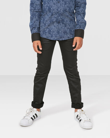 JONGENS SKINNY COATED JOG DENIM Zwart