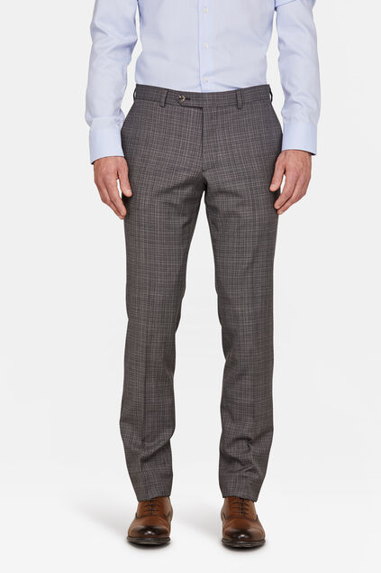 HEREN SLIM FIT PANTALON PERRINE Grijs