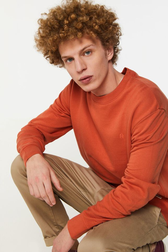 Sweat-shirt Blue Ridge homme Orange