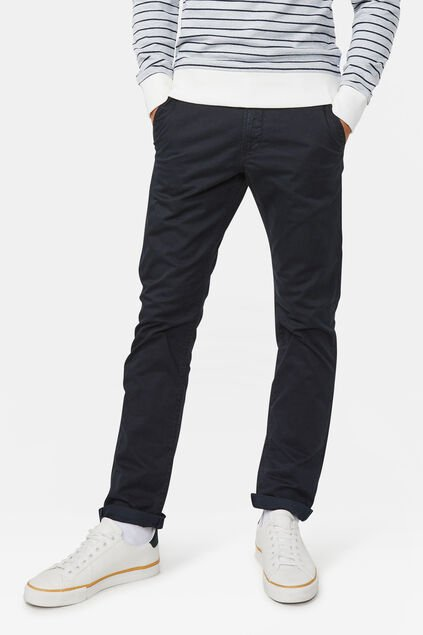 Heren slim tapered chino Zwart