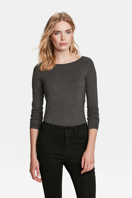 DAMES ORGANIC COTTON SHIRT Grijs
