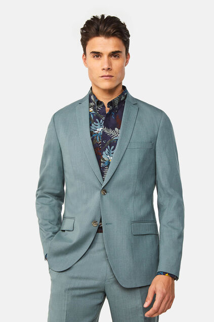 Blazer regular fit stretch Dali homme Vert gris