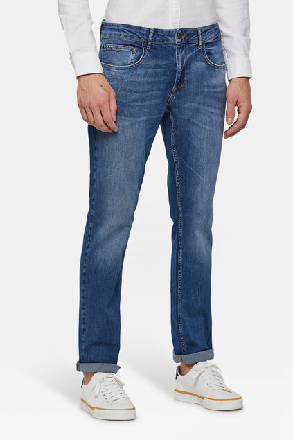 Heren regular fit comfort stretch jeans Blauw