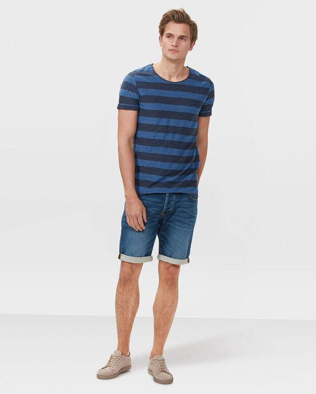 SHORT SWEAT DENIM  REGULAR FIT HOMME Bleu