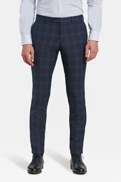 HEREN SLIM FIT RUITEN PANTALON NAPLES Donkerblauw