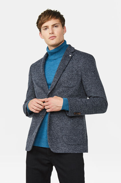 Heren Slim fit blazer Ross Grijsblauw