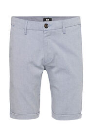 Heren slim fit chinoshort met stretch_Heren slim fit chinoshort met stretch, Donkerblauw