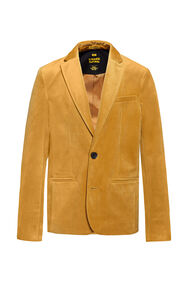 Jongens regular fit blazer_Jongens regular fit blazer, Goud