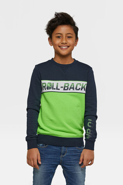 Jongens roll- back sweater Donkerblauw