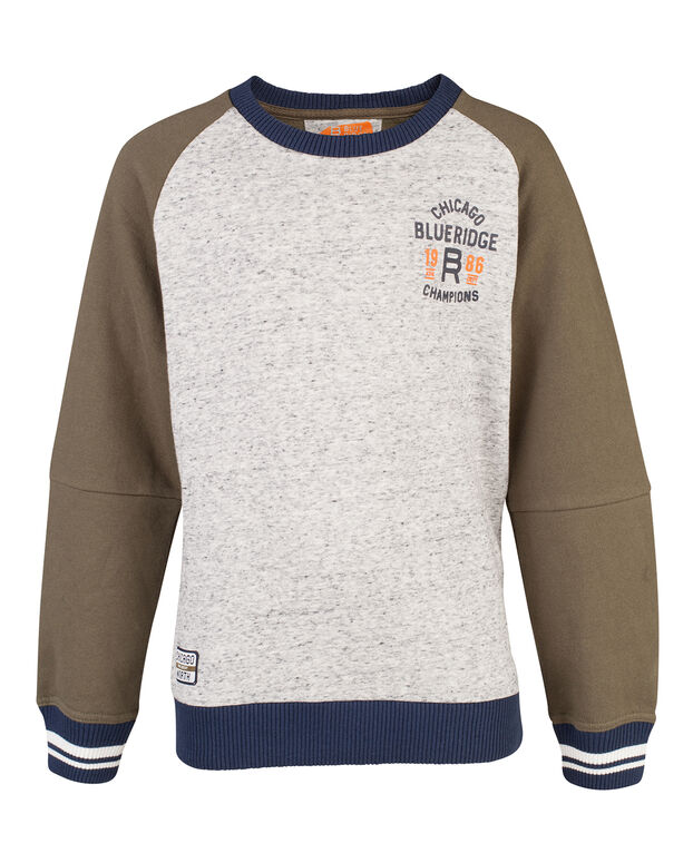 SWEAT-SHIRT BLUE RIDGE RAGLAN GARÇON Vert armee