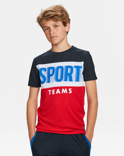 T-SHIRT ATHLETIC PRINT GARÇON Rouge