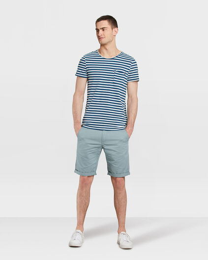 HEREN REGULAR FIT CHINO SHORT Grijsblauw