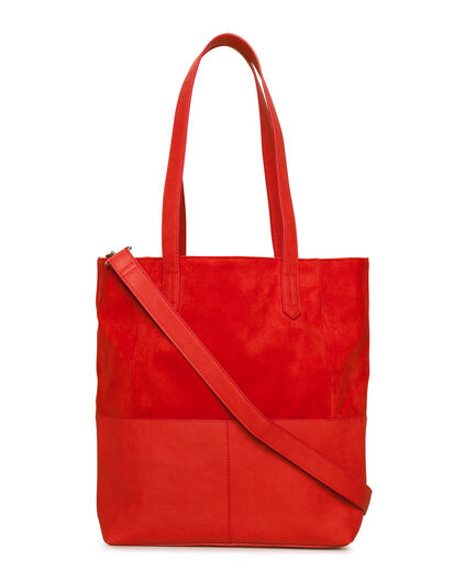 DAMES SUEDE LOOK SHOPPER Rood