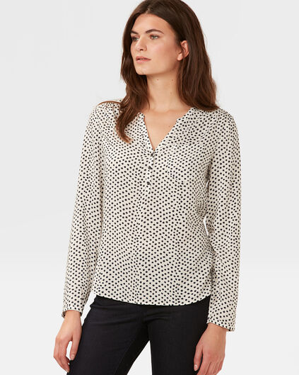 DAMES FINE DOT BLOUSE Wit