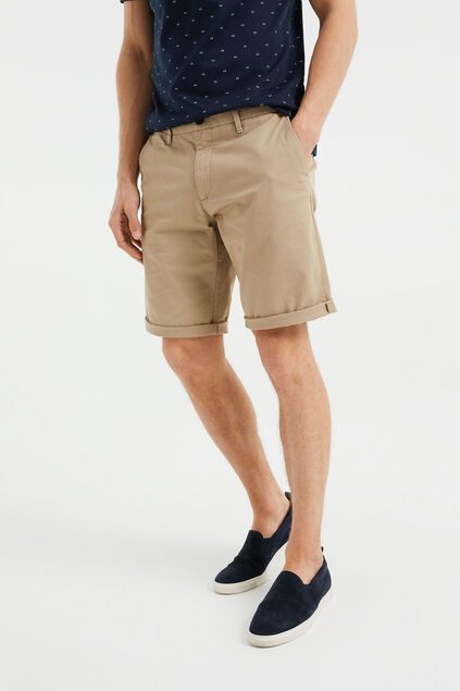 Heren regular fit chinoshort Beige