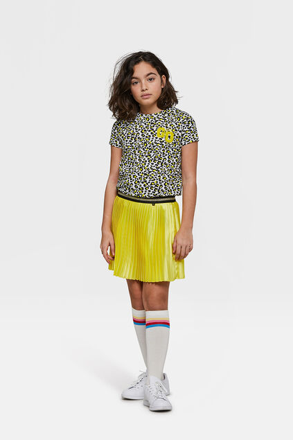 JUPE PLEATED FILLE Jaune
