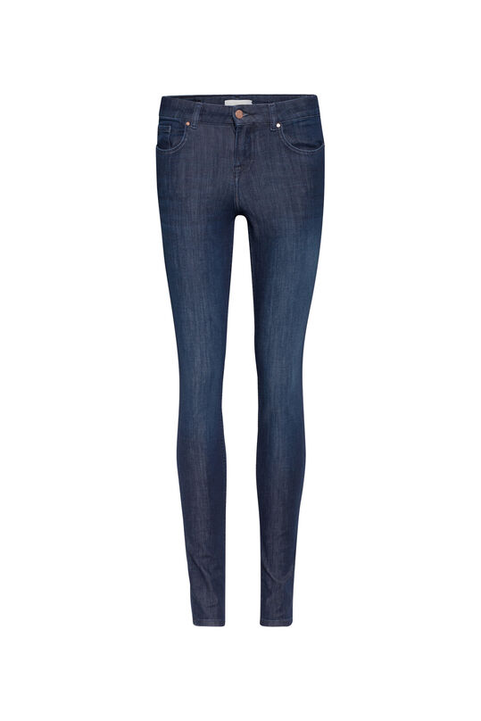 Dames super skinny push up jeans Donkerblauw