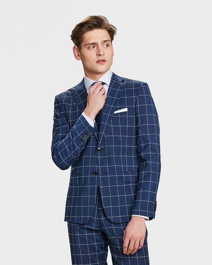 HEREN SLIM FIT BLAZER NEWARK Donkerblauw