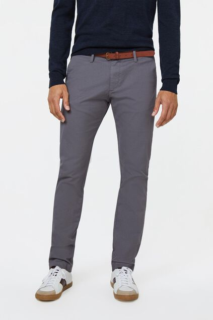 Pantalon chino skinny fit homme Gris