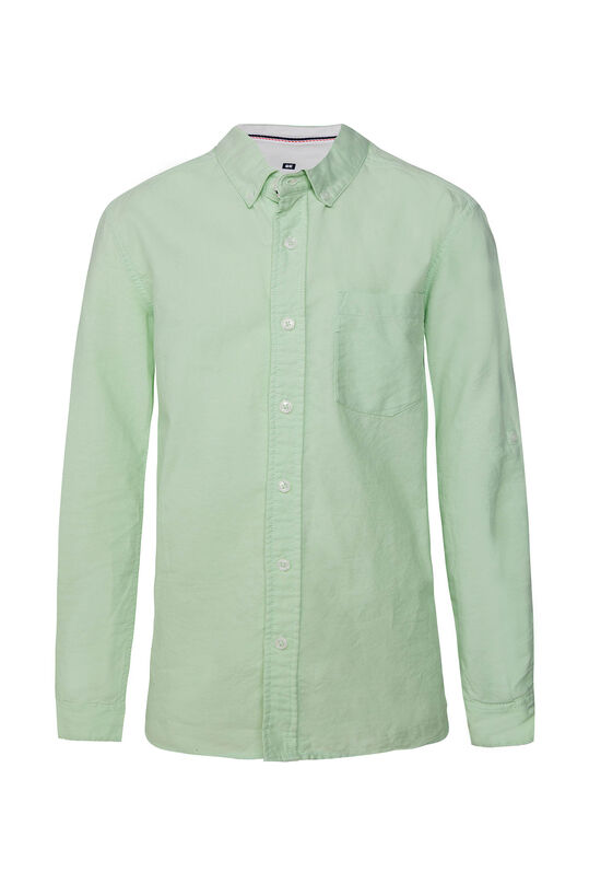 Jongens slim fit Oxford overhemd Mintgroen