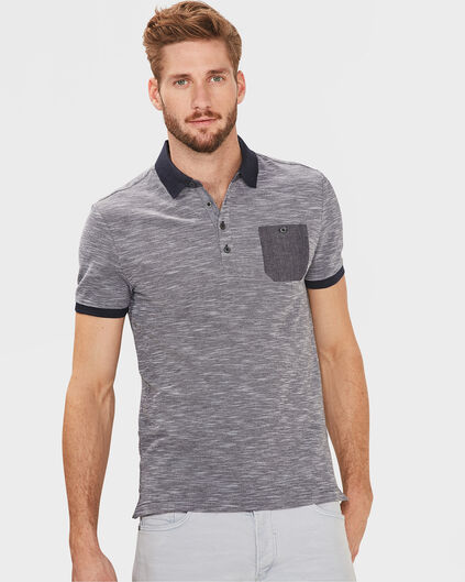 POLO ONE POCKET HOMME Bleu marine
