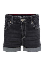 Short denim skinny fit fille_Short denim skinny fit fille, Noir