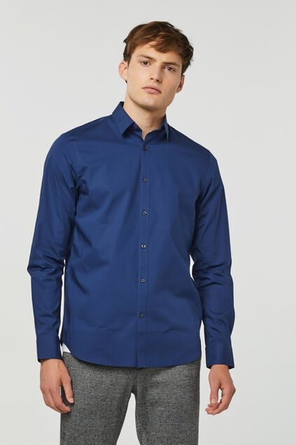 Chemise regular fit stretch homme Indigo