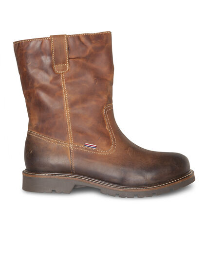 HEREN LEATHER BOOTS Cognac