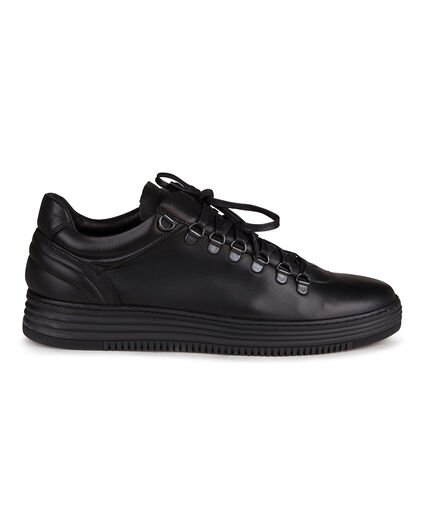 TENNIS REAL LEATHER HOMME Noir