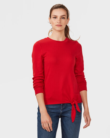 DAMES TIE SWEATER Rood
