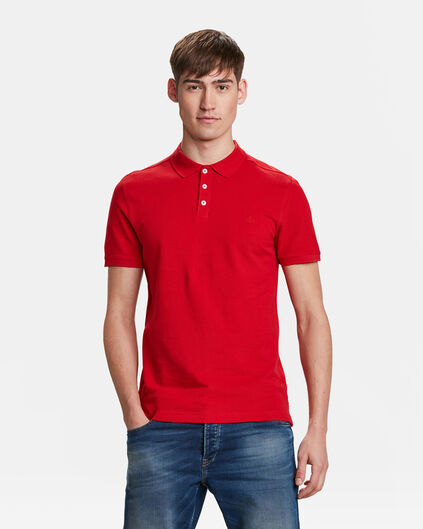 HEREN ORGANIC COTTON PIQUÉ POLO Rood