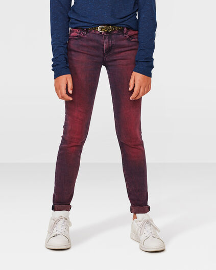 MEISJES SUPER SKINNY POWER STRETCH JEANS Roze