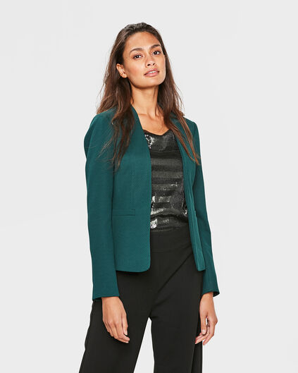 DAMES STRUCTURED BLAZER Donkergroen