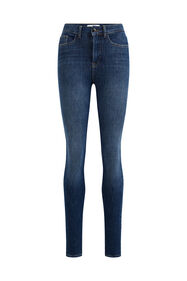 Dames high rise skinny jeans met 4- ways stretch_Dames high rise skinny jeans met 4- ways stretch, Blauw