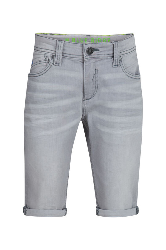 Jongens Slim Fit jog denim short Lichtgrijs
