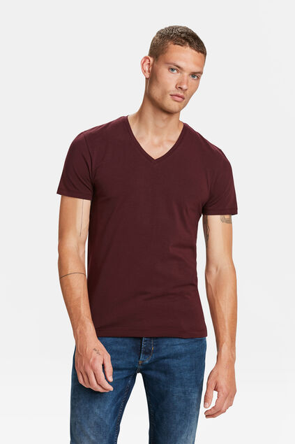HEREN ORGANIC COTTON T-SHIRT Bordeauxrood