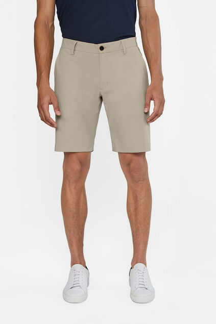 Heren hybrid lichtgewicht slim fit chinoshort, Tech Beige
