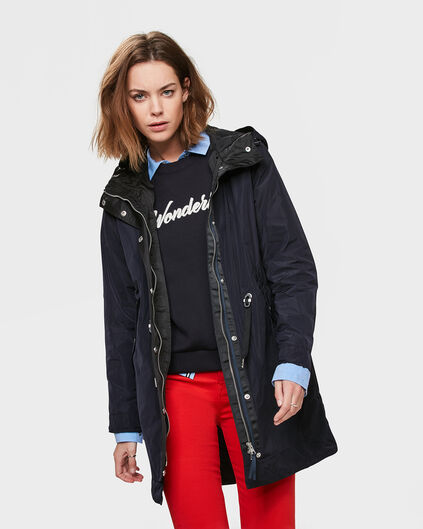 DAMES PARKA Donkerblauw