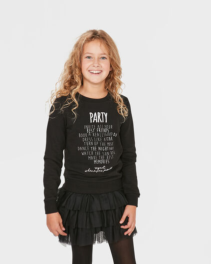 MEISJES PARTY SWEATER Zwart