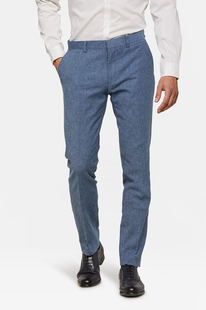 Heren slim fit pantalon Vitorio Blauw