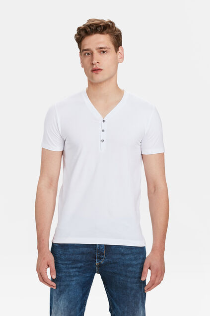HEREN GRANDAD T-SHIRT Wit
