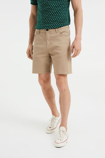 Heren relaxed fit short Lichtbruin