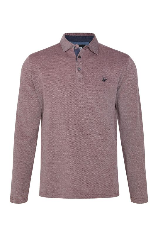 Heren polo met jacquard dessin All-over print