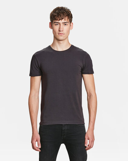 HEREN R-NECK T-SHIRT Donkergrijs
