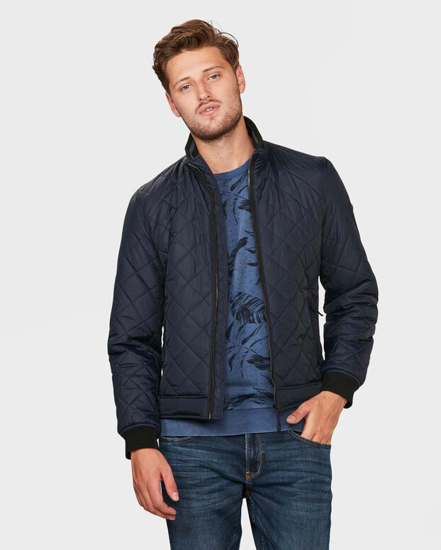 HEREN QUILTED JACKET Donkerblauw