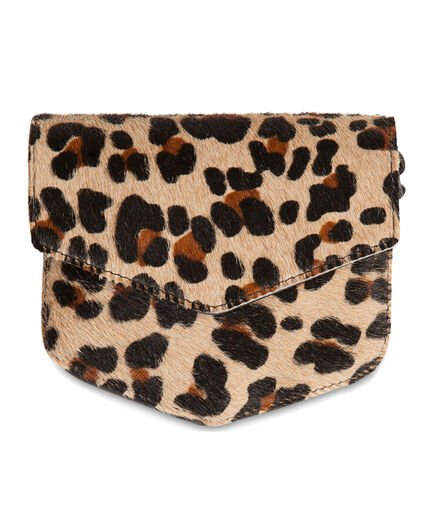 DAMES LEATHER LEOPARD CROSSBODY BAG All-over print
