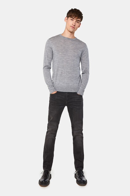 Jeans regular fit stretch homme Noir
