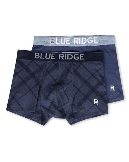 HEREN BLUE RIDGE BOXERSHORTS, 2-PACK Donkerblauw