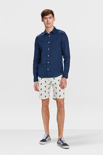 SHORT REGULAR TAPERED ANANAS DESSIN HOMME Blanc