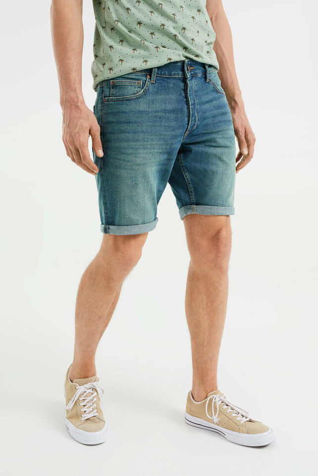 Short denim homme Bleu gris